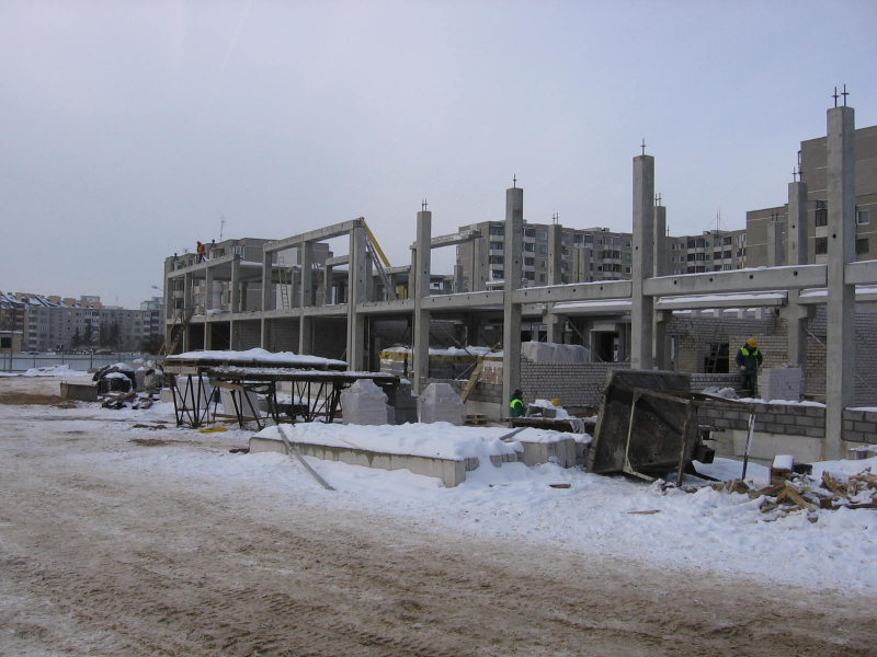 Statybos pradžia/Beginning of construction/Начало строительства
